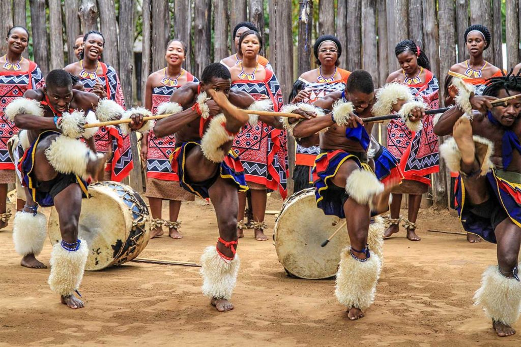 Traditional dancers in Eswatini (Swaziland)