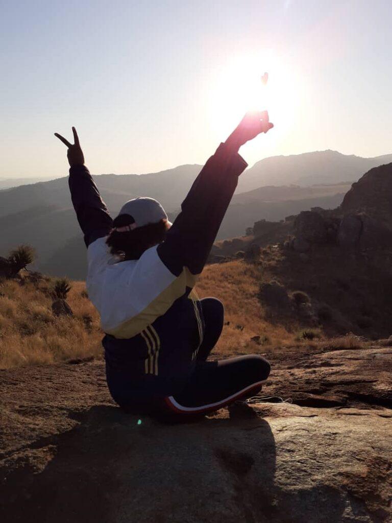 Tandzile Zwane, the Sheba's Breast sunset was amazingly beautiful 18 June, 2020