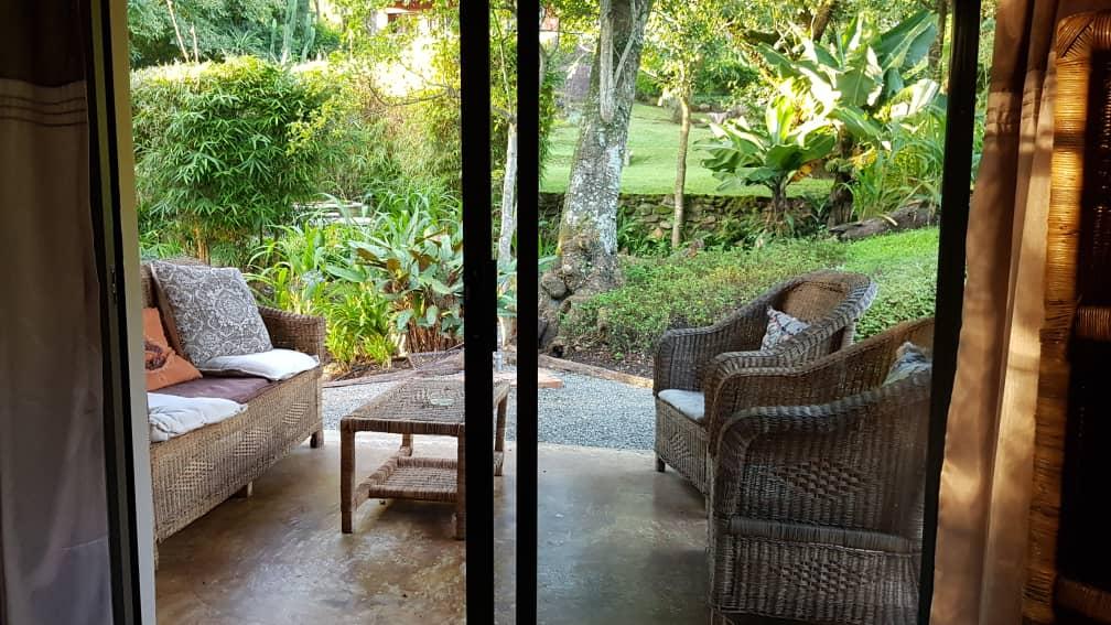 Lidwala Lodge;s private chalet veranda.